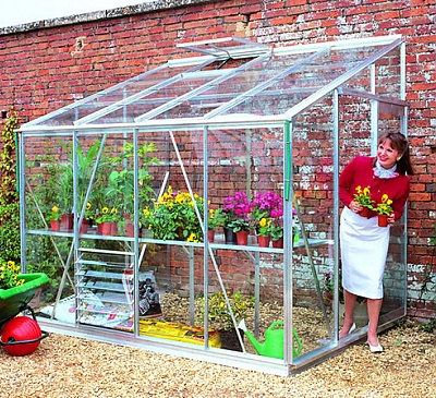 Eden Lean-to 6x8 Greenhouse - 3mm Horticultural Glazing