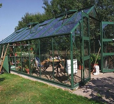 Eden Monarch Green 10x20 Greenhouse - 6mm Polycarbonate Glazing