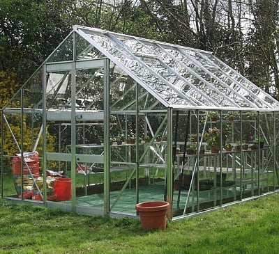 Eden Monarch Silver 10x20 Greenhouse - 6mm Polycarbonate Glazing