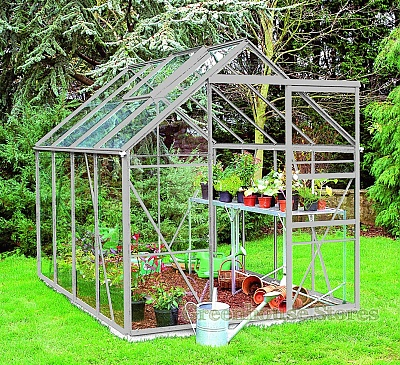 Eden Regent Silver 8x6 Greenhouse - Toughened Glazing