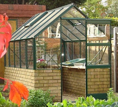 Elite 6x14 Dwarf Wall Greenhouse - Toughened Glazing