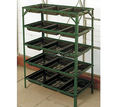 Elite Green 5 Tier Seed Tray Frame