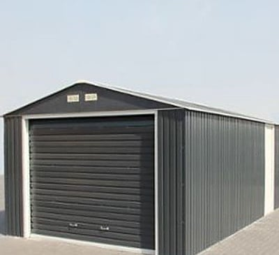 Emerald Olympian Anthracite 12x32 Metal Garage