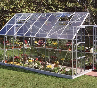 Halls Magnum Silver 8x14 Greenhouse - 6mm Polycarbonate Glazing