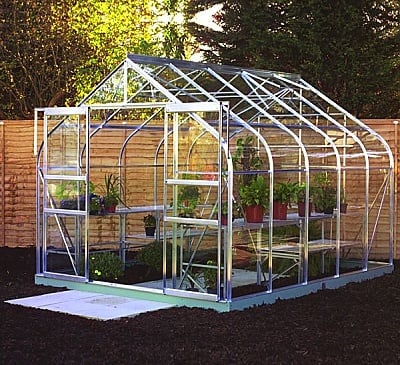 Halls Supreme Silver 8x14 Greenhouse - 3mm Toughened Glazing