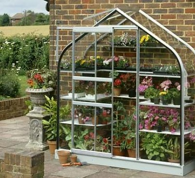 2x6 Halls Supreme Wall Garden Lean to - Toughened Glass