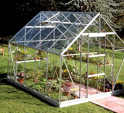 Halls Universal Silver 8x10 Greenhouse - 6mm Polycarbonate Glazing