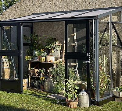 Juliana 5x10 Silver Lean to Greenhouse