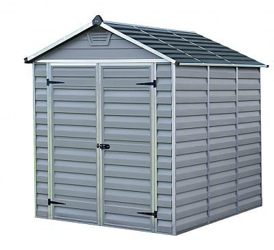 Palram 6x8 Plastic Skylight Grey Shed Greenhouse Stores
