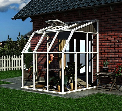 Rion Sun Room 6x6 Lean To Greenhouse Polycarbonate