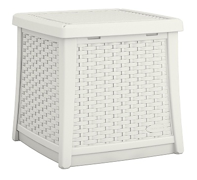 Suncast 49litre Side table with Storage in White