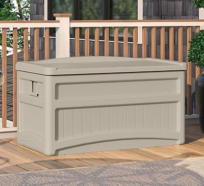 Suncast 276 Litre Plastic Storage Box With Seat
