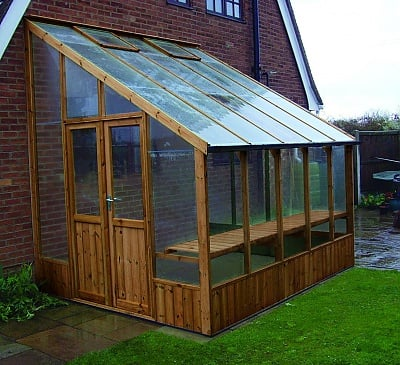 Swallow Heron 8x16 Lean to Greenhouse