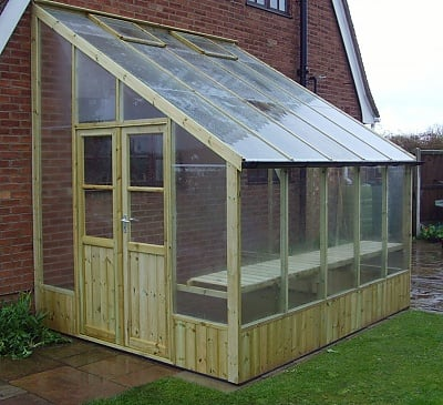 Swallow Heron 8x8 Lean to Greenhouse