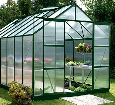 Vitavia Jupiter Green 8x14 Greenhouse - 4mm Polycarbonate Glazing