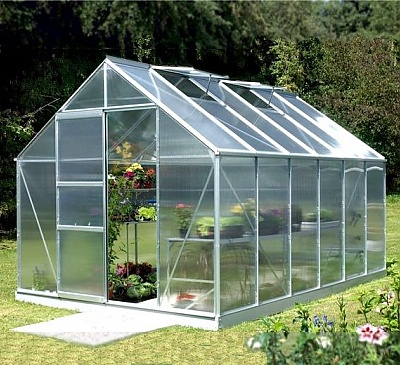Vitavia Neptune Silver 8x12 Greenhouse - 4mm Polycarbonate Glazing