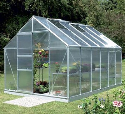Vitavia Neptune Silver 8x14 Greenhouse - 4mm Polycarbonate Glazing