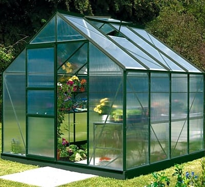 Vitavia Neptune Green 8x8 Greenhouse - 4mm Polycarbonate Glazing