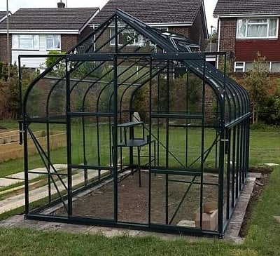 Vitavia Saturn Green 8x14 Greenhouse - 3mm Toughened Glazing