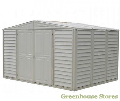 Duramax Woodbridge 10ft wide Plastic Shed