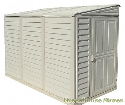 Duramax Sidemate 4x8 Lean to Plastic Shed