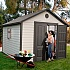 Lifetime 11x11 Heavy Duty Plastic Shed Greenhouse Stores