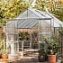 Eden Viscount Silver Polycarbonite Greenhouse