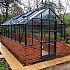 Elite 8ft Wide Dwarf Wall Greenhouse in Grey Powder Coating