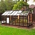Elite Titan 8ft Wide Greenhouse in Brown Powder Coating