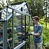 Evika G1 6x2 Greenhouse in Squirrel Grey