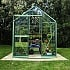 6x4 Evika G1 Greenhouse in Pale Green