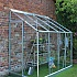 Halls Europa Silver 8x4 Lean to Greenhouse Front