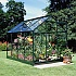 Halls Popular Green 8x6 Greenhouse Side