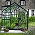 Halls Popular Green 8x6 Greenhouse Front