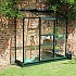Halls 2x6 Wall Garden Green Lean to Greenhouse with Horticultural Glazing