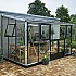 Juliana 7x14 Silver Lean to Greenhouse with Large Double Doors