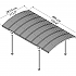 Palram Atlas 5000 Carport Roof Dimensions