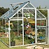 Palram Harmony 6 x 6 Silver Greenhouse with Clear Polycarbonate Glazing 2