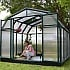 Rion Hobby Gardener 8x8 Greenhouse with Polycarbonate Glazing and Planters