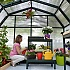 Rion Hobby Gardener 8x8 Greenhouse with Polycarbonate Glazing and Staging