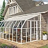 Rion Sun Room 8x16 Lean to Greenhouse - Polycarbonate Glazing