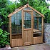 Swallow Kingfisher 6x4 Greenhouse in Thermowood Finish