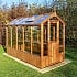 Swallow Lark 4x10 Wooden Greenhouse in Thermowood