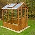 Swallow Lark 4x6 Wooden Greenhouse in Thermowood