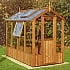 Swallow Lark 4x8 Wooden Greenhouse in Thermowood Extra Side Vent