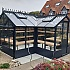 Swallow Mallard 8x15 Wooden Greenhouse in Midnight