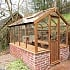 6x8 Swallow Kingfisher Wooden Dwarf Wall Greenhouse