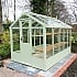 Swallow Kingfisher 6x10 Wooden Greenhouse in Summer Green Paint