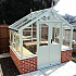 Swallow Raven 8x6 Wooden Greenhouse in White