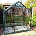 6x4 Green Vitavia Venus Greenhouse with Toughened Glass in Green